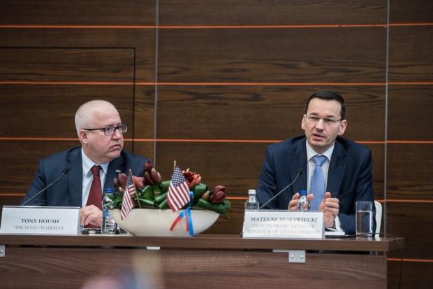 Wicepremier Morawiecki rozmawiał o współpracy z amerykańskimi firmami