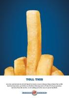 Reklama Burger Kinga symbolem solidarności z Belgią