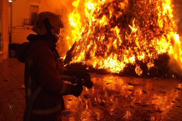 Pożar w CH Ptak