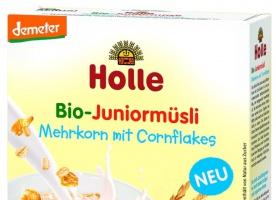 Holle wprowadza Kaszkę pełnoziarnistą Musli z płatkami kukurydzianymi