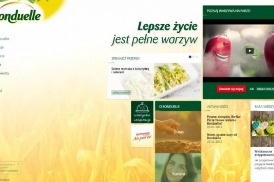 Bonduelle promuje w internecie spożywanie warzyw