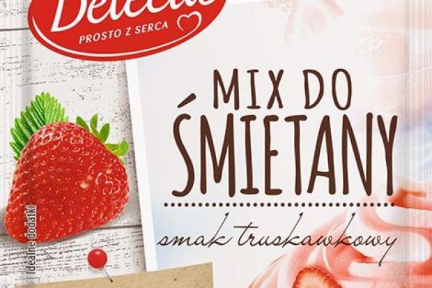 Delecta wprowadza truskawkowy Mix do śmietany