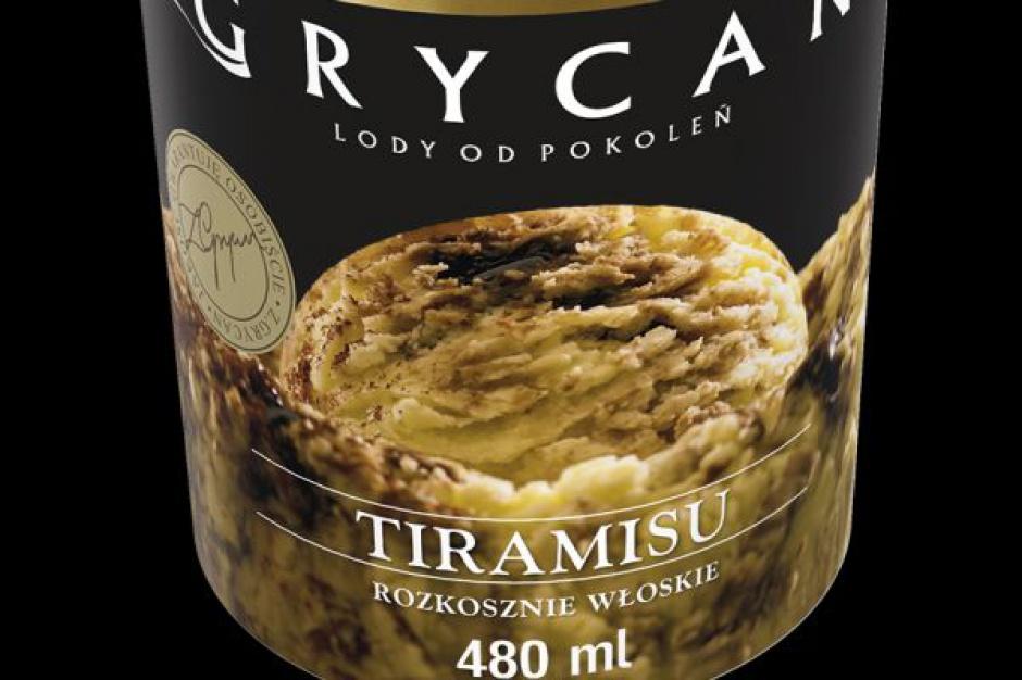 Nowość - Lody Grycan Tiramisu w opakowaniu 480 ml