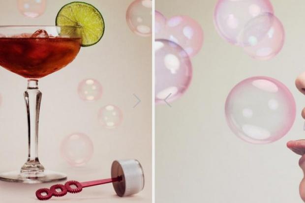 Zamień drinka w jadalną bańkę