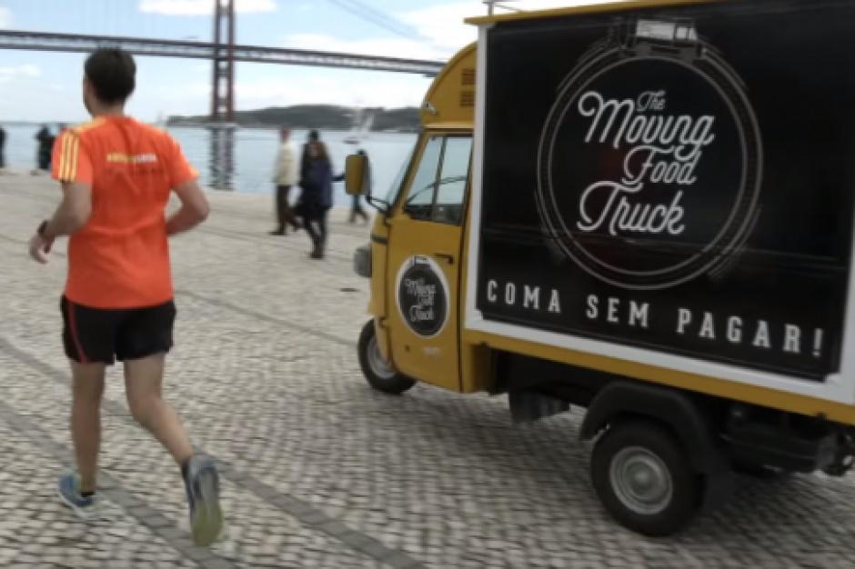 W portugalskim food trucku za burgera zapłacisz bieganiem