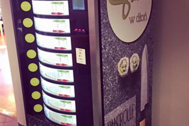 Automat z sushi na Uniwersytecie Łódzkim