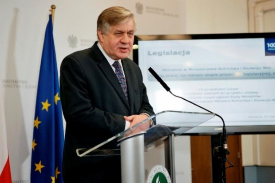 Minister rolnictwa: konsolidacja służb nadzorujących żywność jest konieczna