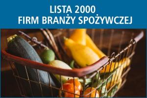 Lista 2000 firm branży spożywczej w Polsce - edycja 2016
