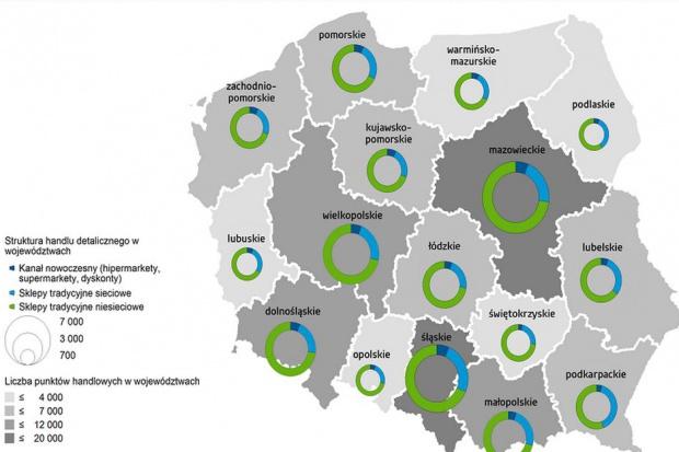 Struktura handlu detalicznego w Polsce - badanie GfK