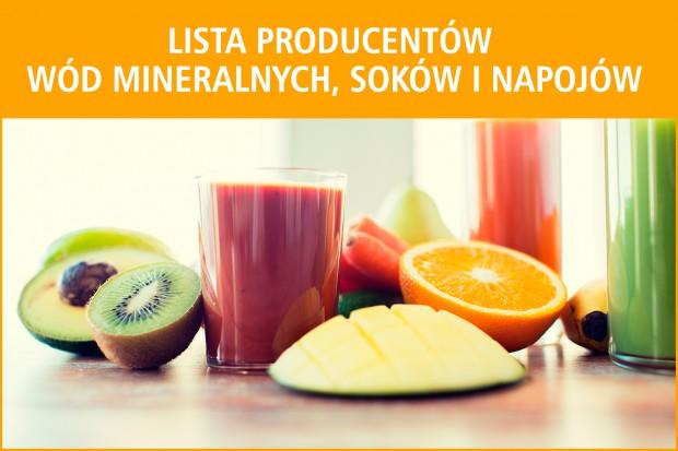 Lista producentów wód mineralnych, soków i napojów - edycja 2017