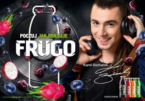 Kamil Bednarek w kampanii reklamowej marki Frugo
