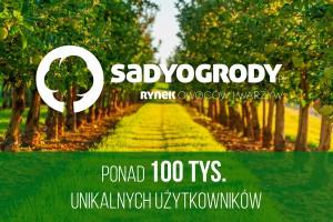Liczba użytkowników serwisu SadyOgrody.pl przekroczyła 100 tysięcy