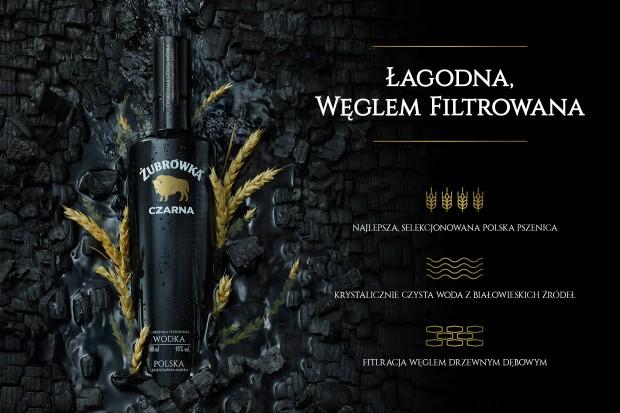 Żubrówka Czarna chce wyróżnić się spośród innych wódek super premium