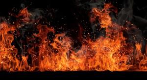 Pożar hurtowni spożywczej na Śląsku