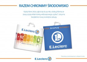 E.Leclerc o foliówkach: Zachęcamy klientów do korzystania z toreb wielokrotnego użytku