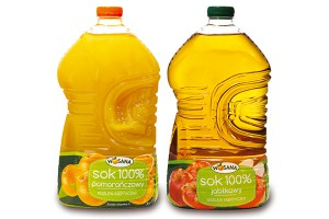 Soki Wosana w 3-litrowych butelkach