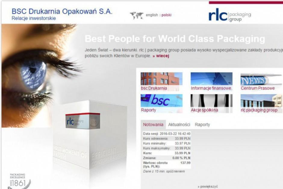 BSC Drukarnia Opakowań zainwestuje 15,5 mln zł w nowy zakład produkcyjny