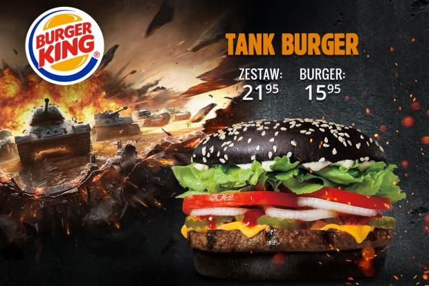 Współpraca Burger Kinga i World of Tanks zaowocowała nowym burgerem w czarnej bułce