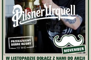 """Pilsner Urquell wspiera akcję Movember kampanią """"Wzór piwnych wąsów"""""""