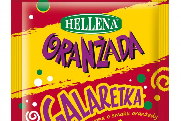 Colian wprowadza czerwoną galaretkę o smaku oranżady Hellena