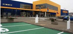 Ikea z kolejną stacją ładowania samochodów elektrycznych