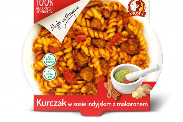 Profi wprowadza nowe danie gotowe: Kurczak w sosie indyjskim z makaronem