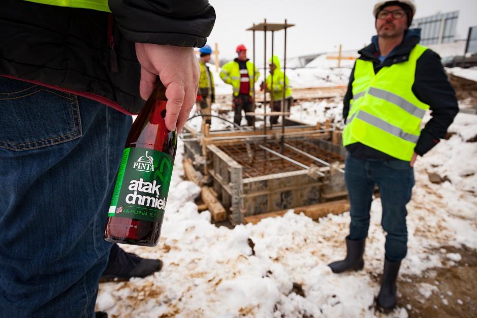 Zdjęcie numer 1 - galeria: Browar Pinta zacznie warzyć piwo w swoim własnym browarze wiosną 2019 r. (zdjęcia)