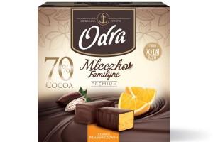 Nowość od marki Odra - Mleczko Familijne Premium 70 proc. Cocoa