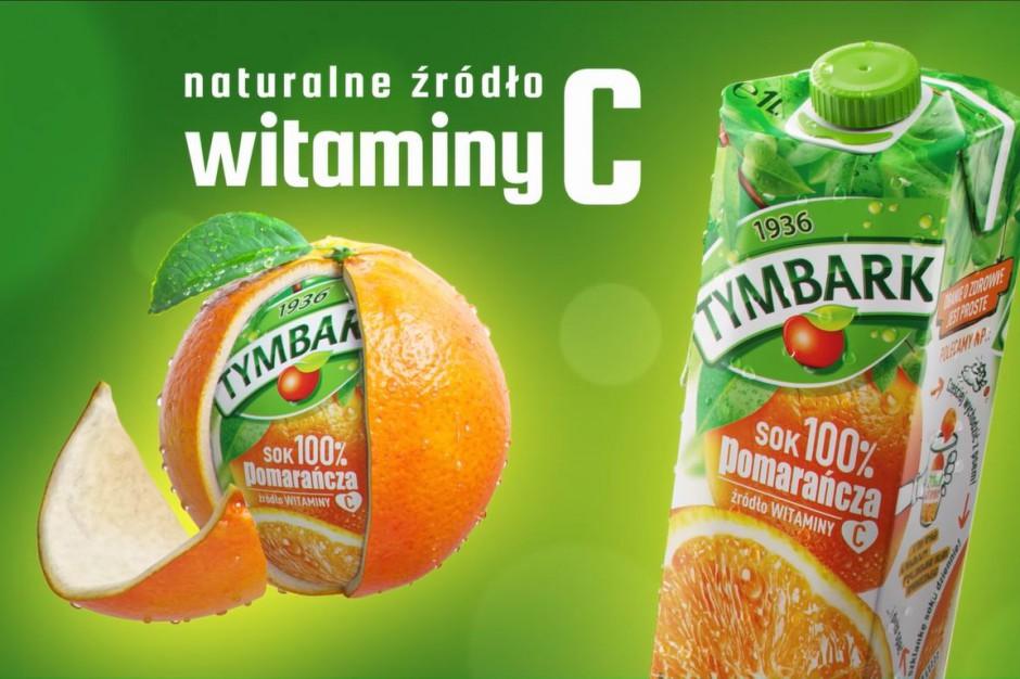 Tymbark promuje swój 100 proc. sok pomarańcza