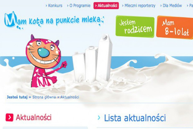 Kolejny program promocji mleka został objęty patronetem ministra rolnictwa