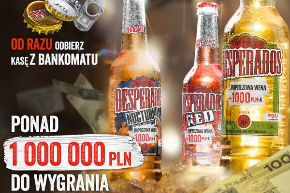 Desperados z pierwszą w historii loterią z błyskawiczną wypłatą BLIK w bankomatach