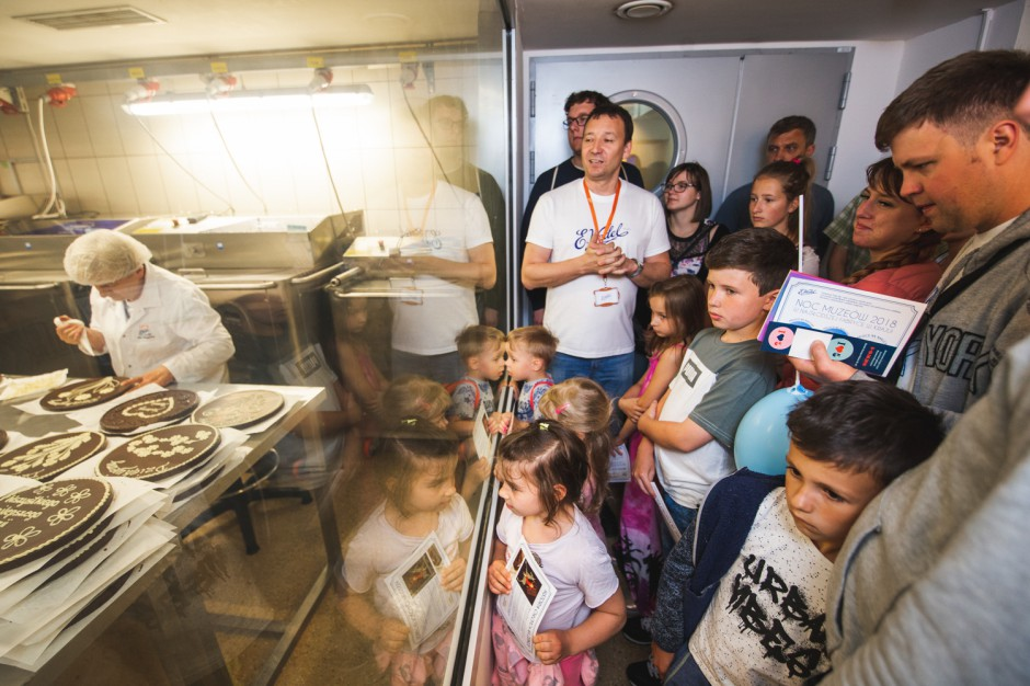 Fabryka E.Wedel wpuściła zwiedzających w ramach Nocy Muzeów