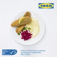 IKEA wprowadza certyfikowanego śledzia ze zrównoważonych połowów