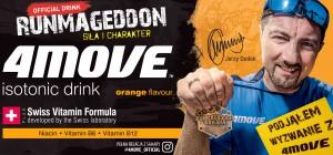 Pomarańczowy 4MOVE Runmageddon z wizerunkiem Jerzego Dudka