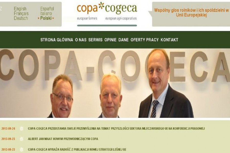 Copa i Cogeca wezwały do uprszczenia WPR
