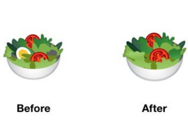 Google usunął jajko z emoji przedstawiającego sałatkę, żeby nie urażać wegan