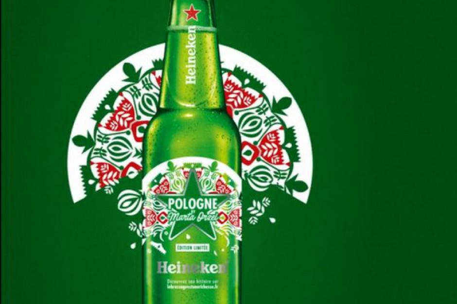 Heineken wprowadził we Francji limitowaną edycję butelek celebrujących Polskę