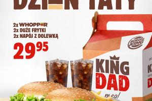 Burger King przygotował na Dzień Ojca limitowane zestawy KING DAD Meal