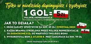 Biedronka: Bony na zakupy z okazji meczu Polska-Kolumbia