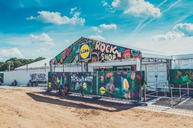 Lidl z polowym marketem spożywczym na Pol'and'rock Festivalu