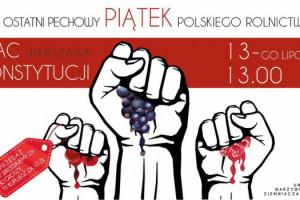 Dziś protest rolników i sadowników w Warszawie
