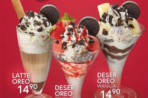 Grycan wprowadza w lodziarniach niższe ceny na desery z Oreo