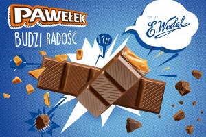 E. Wedel w nowej kampanii promuje batony Pawełek