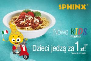 """Sphinx z promocją """"Dzieci jedzą za 1 zł"""""""