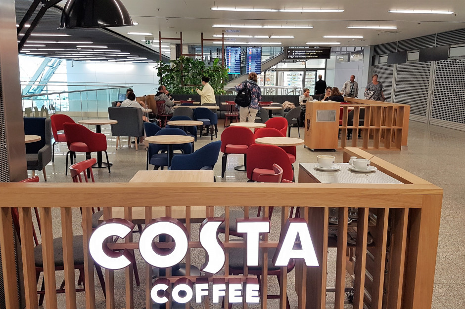 Costa Coffee uruchomiła lokal na krakowskim lotnisku