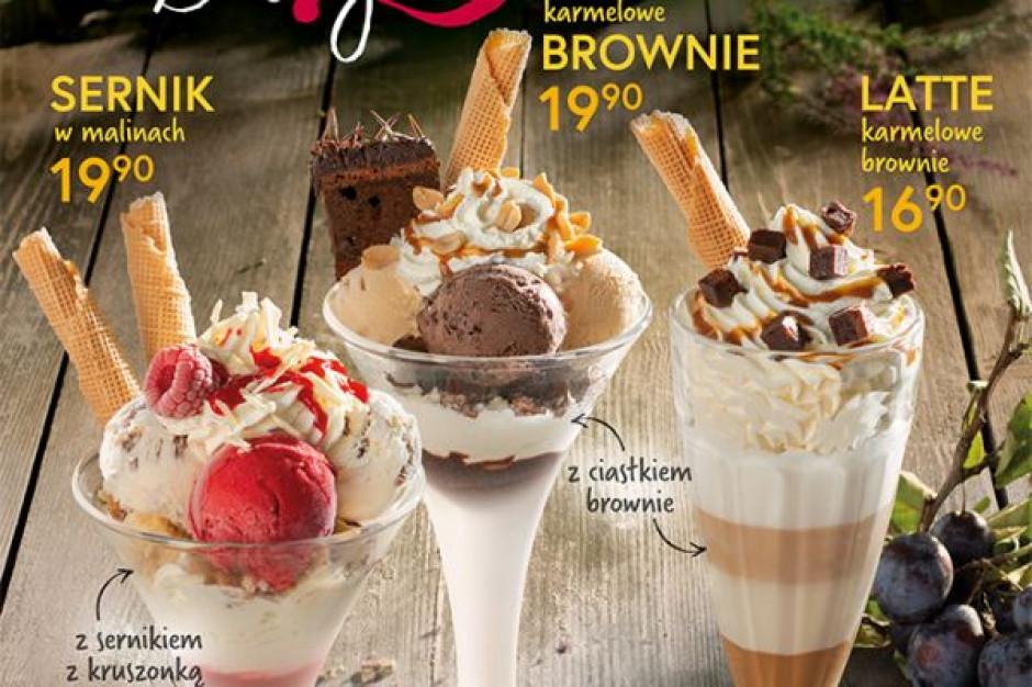 Jesienna oferta Grycan - desery lodowe z ciastami