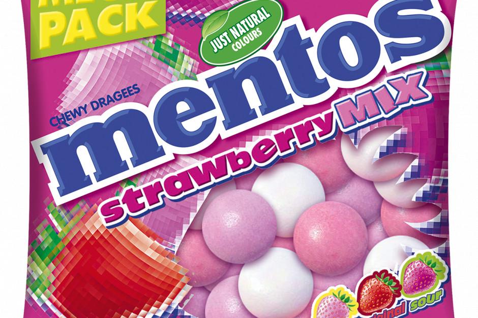 Mentos Strawberry Mix z trzema odmianami smaku truskawki nowością w ofercie Perfetti Van Melle