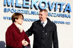 Zdjęcie numer 1 - galeria: Minister Emilewicz na oficjalnym poświęceniu Fabryki Proszków Mlecznych Mlekovity (galeria)