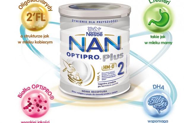 Udoskonalona receptura mlek modyfikowanych NAN 2