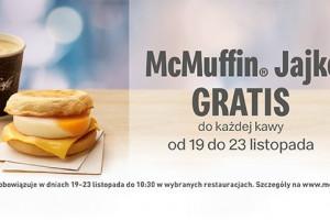 McDonald's z kolejną promocją śniadaniową. Do porannej kawy McMuffin Jajko gratis